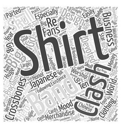 clash t shirt Word Cloud Concept vector image