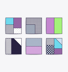 collection with trendy backgrounds vector image