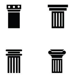 column icon set vector image