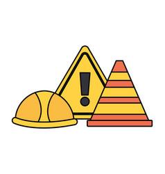 Construction equipment icon vector