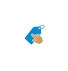 creative label hand click logo vector image