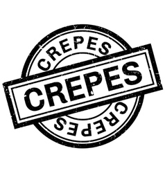 Crepes rubber stamp vector