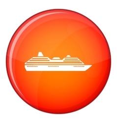 Cruise ship icon flat style vector image