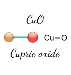 CuO cupric oxide molecule vector image