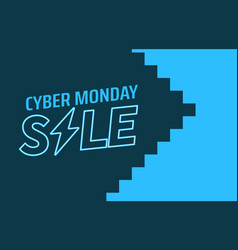 cyber monday sale concept vector image