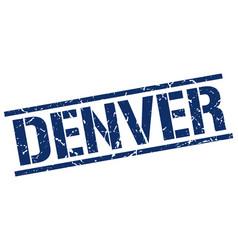 Denver blue square stamp vector