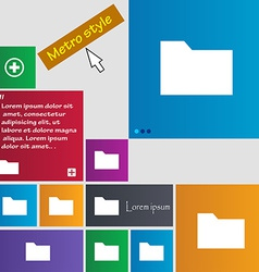 Document folder icon sign Metro style buttons vector