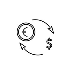 dollar euro exchange icon vector image