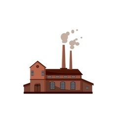 Factory building icon cartoon style vector image