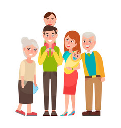 Family with good emotions vector