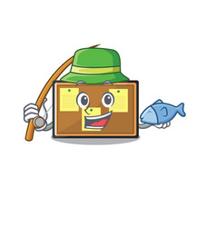 Fishing bulletin board isolated in mascot vector