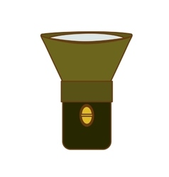 flashlight or lantern icon image vector image