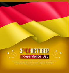germany independence day banner vector image