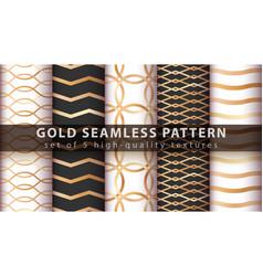Gold princess glitter seamless pattern vector