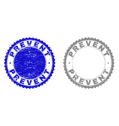 Grunge prevent scratched stamps vector