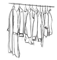 Hand drawn wardrobe sketch vector image