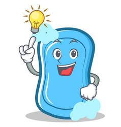 Have an idea blue soap character cartoon vector