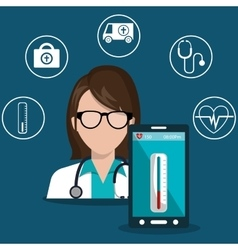 Health technology design vector