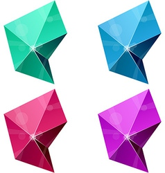 Hexagonal vibrant pyramid vector