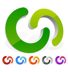 Interlocking circles interlocking rings as vector