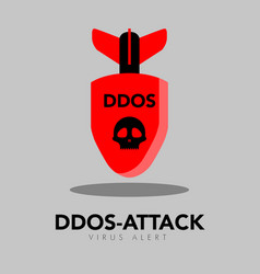Isolated bomb icon ddos attack concept vector