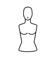 Isolated object dummy and torso icon graphic vector
