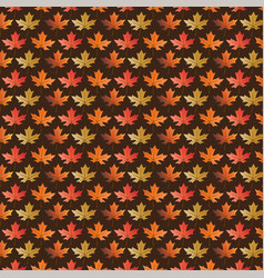 leaf pattern on brown vector image