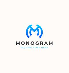 letter m monogram modern concept logo template vector image