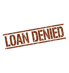Loan denied stamp vector