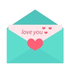 Love letter flat design Isolated on white vector