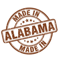 Made in alabama brown grunge round stamp vector