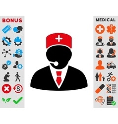 Medical Manager Icon vector