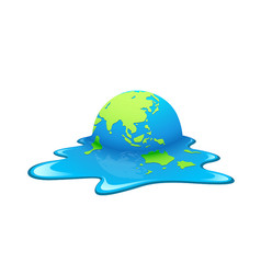 melting earth concept global warming vector image