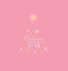 Merry christmas and happy new year 2019 greeting vector