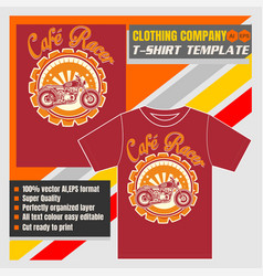 Mock up clothing company t-shirt templatecafe vector