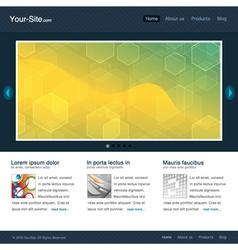 Modern website template vector