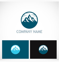Mountain volcano icon logo vector