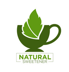 natural sweetener logo vector image