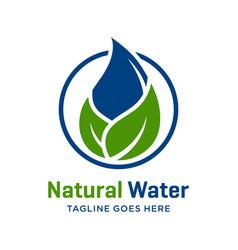 natural water logo design vector image