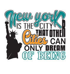 new york quotes and slogan good for t-shirt new vector image