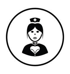 Nurse costume icon vector