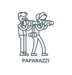 paparazzi line icon linear concept vector image