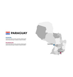 paraguay map infographic template slide vector image