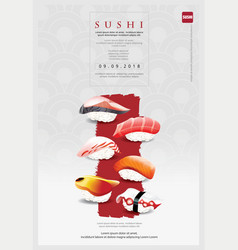 poster sushi restaurant vector image