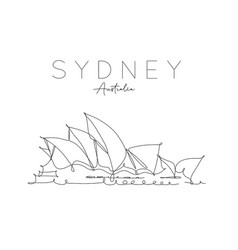 poster sydney opera house vector image