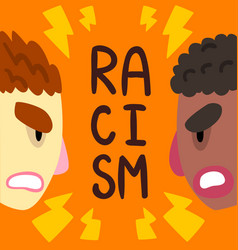 Racism social intolerance poster banner template vector