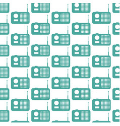 radio pattern background vector image