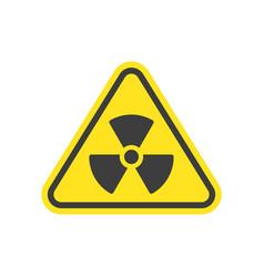 radioactive icon nuclear symbol vector image