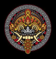 Rangda mask design vector