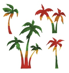 Rasta palms vector